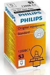 PHILIPS 12008C1 - Лампа накаливания, фара дальнего света autodif.ru