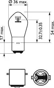 PHILIPS 12728BW - Лампа накаливания, фара дальнего света autodif.ru