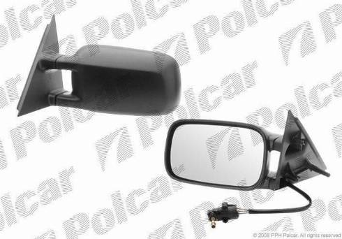 Polcar 9546512E - Зеркальное стекло, наружное зеркало autodif.ru