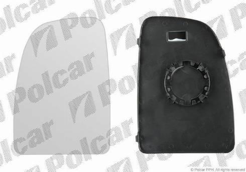 Polcar 5770555E - Наружное зеркало autodif.ru
