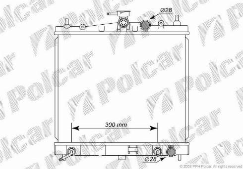 Polcar 2707083K - Радиатор, охлаждение двигателя autodif.ru