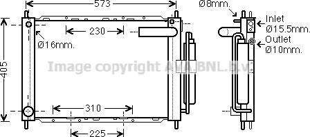 Prasco DNM370 - Модуль охлаждения autodif.ru