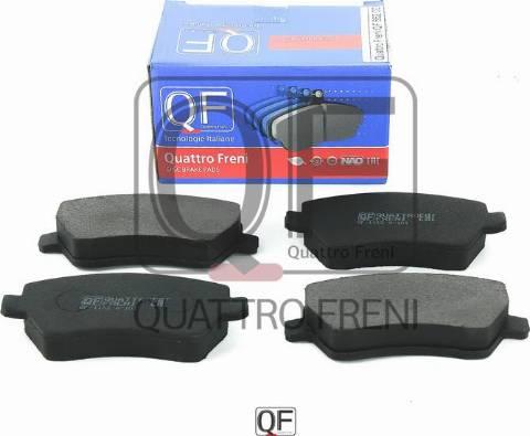 Quattro Freni QF66200 - Комплект тормозных колодок, дисковый тормоз autodif.ru