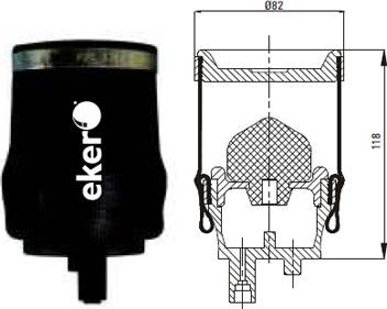 RENAULT TRUCKS 5010130797 - Баллон пневматической рессоры, крепление кабины autodif.ru