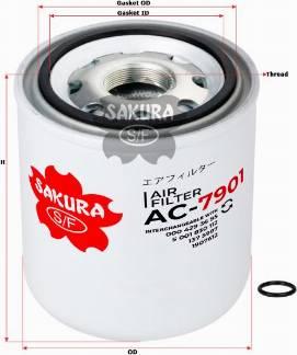 SAKURA AC7901 - Патрон осушителя воздуха, пневматическая система autodif.ru