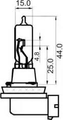 SCT Germany 202983 - Лампа накаливания, фара дальнего света autodif.ru