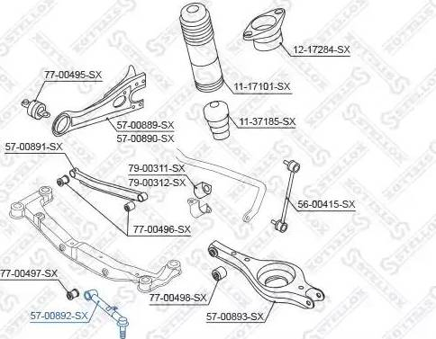 Stellox 57-00892-SX - Продольная рулевая тяга autodif.ru