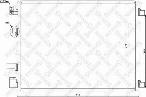 Stellox 10-45482-SX - Конденсатор, кондиционер autodif.ru