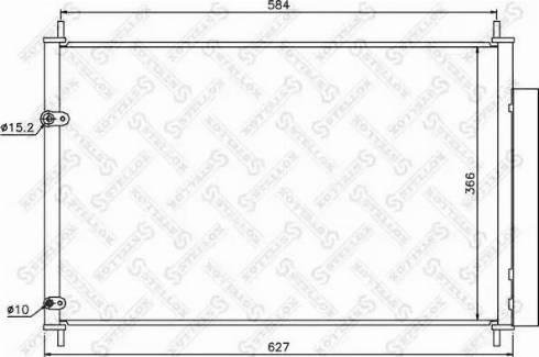 Stellox 10-45568-SX - Конденсатор, кондиционер autodif.ru