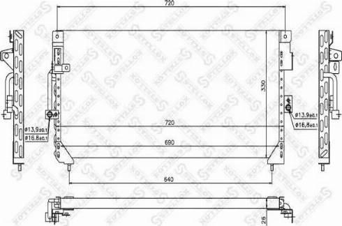 Stellox 1045587SX - Конденсатор, кондиционер autodif.ru