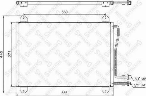 Stellox 10-45059-SX - Конденсатор, кондиционер autodif.ru