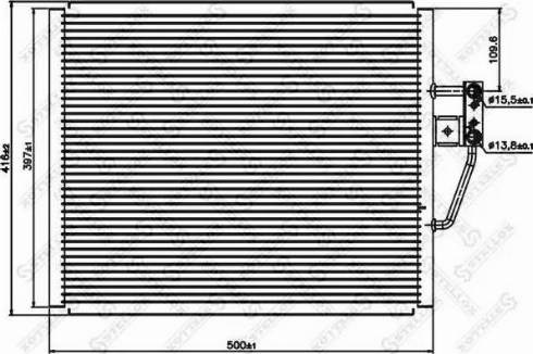 Stellox 1045054SX - Конденсатор, кондиционер autodif.ru