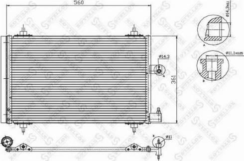 Stellox 10-45064-SX - Конденсатор, кондиционер autodif.ru