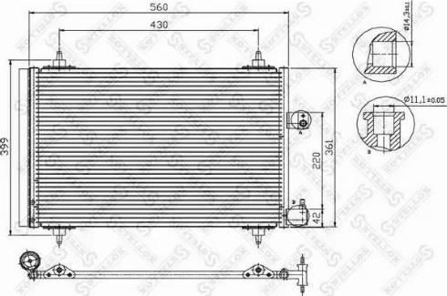 Stellox 10-45067-SX - Конденсатор, кондиционер autodif.ru
