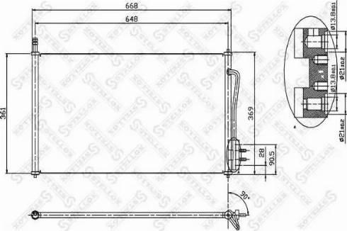 Stellox 10-45001-SX - Конденсатор, кондиционер autodif.ru