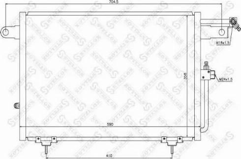 Stellox 10-45007-SX - Конденсатор, кондиционер autodif.ru