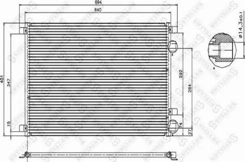 Stellox 10-45034-SX - Конденсатор, кондиционер autodif.ru