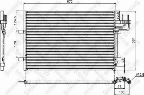 Stellox 10-45036-SX - Конденсатор, кондиционер autodif.ru