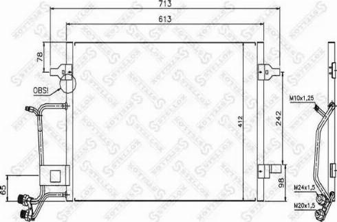 Stellox 10-45024-SX - Конденсатор, кондиционер autodif.ru