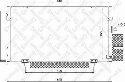 Stellox 10-45193-SX - Конденсатор, кондиционер autodif.ru