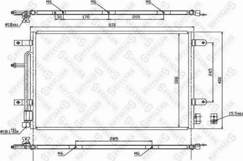 Stellox 10-45179-SX - Конденсатор, кондиционер autodif.ru