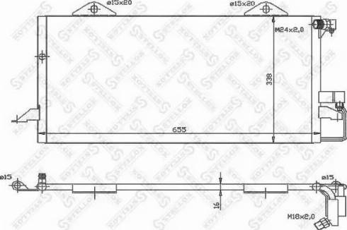 Stellox 1045300SX - Конденсатор, кондиционер autodif.ru