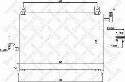 Stellox 1045331SX - Конденсатор, кондиционер autodif.ru