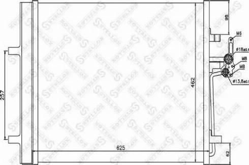 Stellox 10-45207-SX - Конденсатор, кондиционер autodif.ru