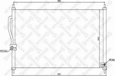 Stellox 10-45220-SX - Конденсатор, кондиционер autodif.ru