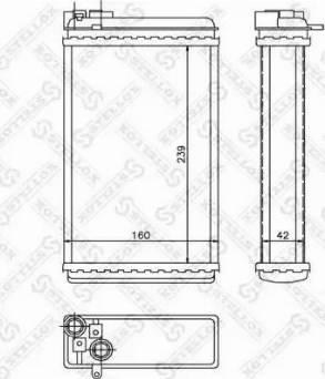 Stellox 1035046SX - Теплообменник, отопление салона autodif.ru