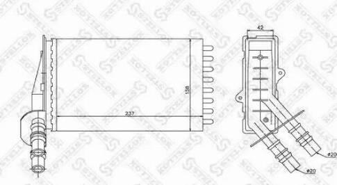 Stellox 1035043SX - Теплообменник, отопление салона autodif.ru