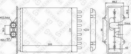 Stellox 1035056SX - Теплообменник, отопление салона autodif.ru