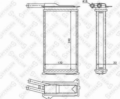 Stellox 10-35009-SX - Теплообменник, отопление салона autodif.ru