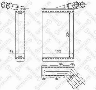 Stellox 1035005SX - Теплообменник, отопление салона autodif.ru