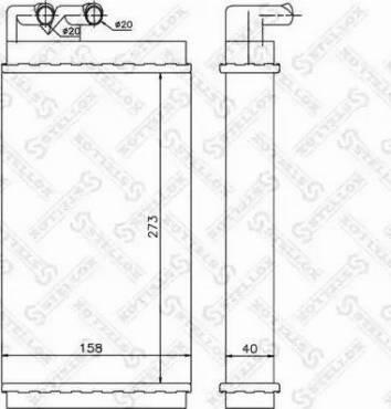 Stellox 10-35001-SX - Теплообменник, отопление салона autodif.ru