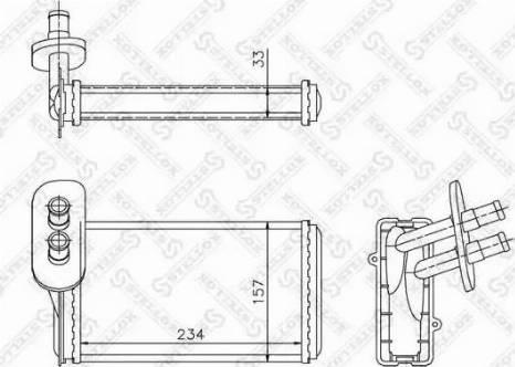 Stellox 1035019SX - Теплообменник, отопление салона autodif.ru