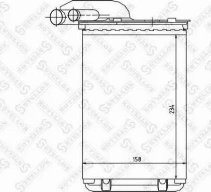 Stellox 1035014SX - Теплообменник, отопление салона autodif.ru