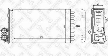 Stellox 1035012SX - Теплообменник, отопление салона autodif.ru