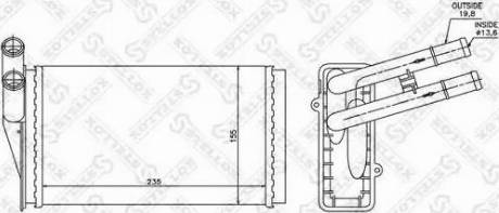 Stellox 1035021SX - Теплообменник, отопление салона autodif.ru