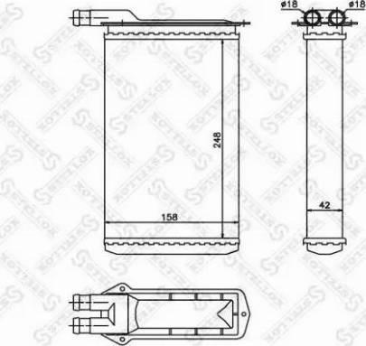 Stellox 1035126SX - Теплообменник, отопление салона autodif.ru
