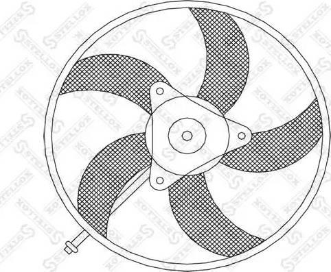 Stellox 2999004SX - Вентилятор, охлаждение двигателя autodif.ru