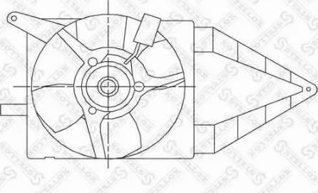 Stellox 2999246SX - Вентилятор, охлаждение двигателя autodif.ru