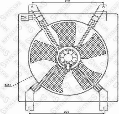 Stellox 2999255SX - Вентилятор, охлаждение двигателя autodif.ru