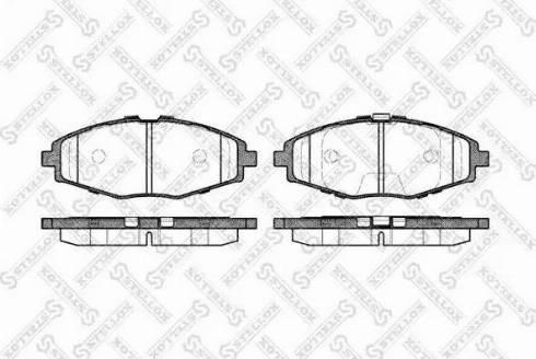 Stellox 707 000B-SX - Комплект тормозных колодок, дисковый тормоз autodif.ru