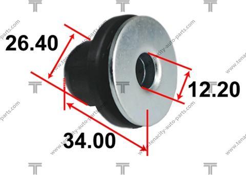 Tenacity AAMTO1128 - Втулка, вал рулевого колеса autodif.ru
