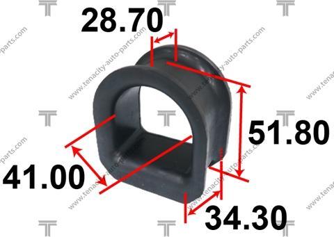 Tenacity ASTTO1003 - Втулка, вал рулевого колеса autodif.ru