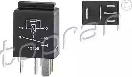 Topran 115664 - Реле, вентилятор радиатора autodif.ru