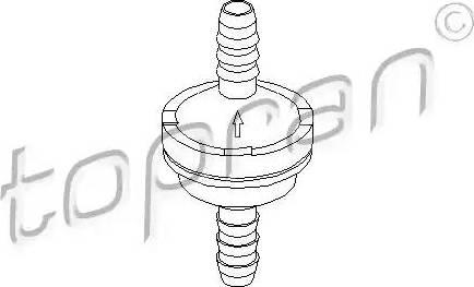 Topran 206 111 - Клапан, вакуумный насос autodif.ru