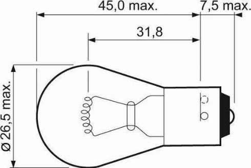 Valeo 032203 - Лампа накаливания, фонарь указателя поворота autodif.ru