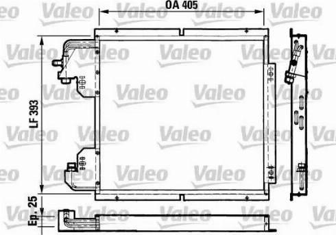 Valeo 816782 - Конденсатор, кондиционер autodif.ru